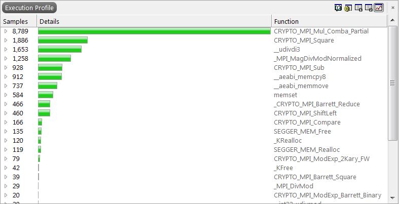 Embedded Studio Proffile Window